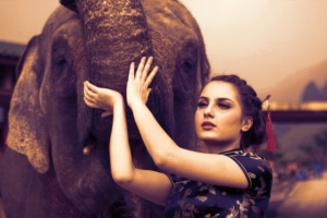 Women with Elephant